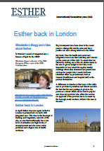 Front page Esther newsletter June 2015